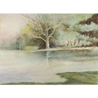 Small Lakeside Landscape For Sale
