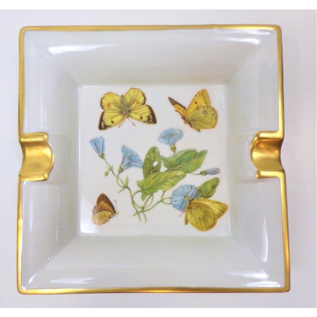 Vintage Hermes Style Butterfly Ashtray With Suede Bottom For Sale - Image 4 of 13