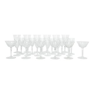 Vintage Baccarat Crystal Glassware - Set of 18 For Sale