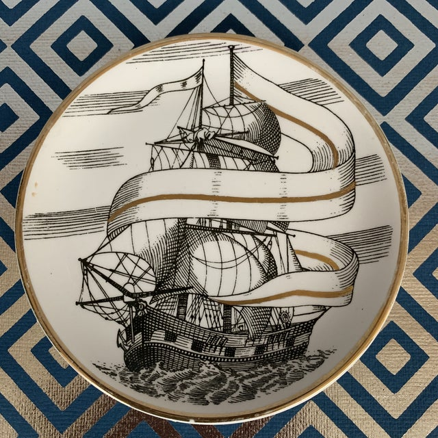 1950s Fornasetti Vintage Cocktail Coasters - Set of 5 For Sale - Image 5 of 13
