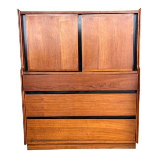 1960s Danish Modern Dillingham Highboy Dresser For Sale