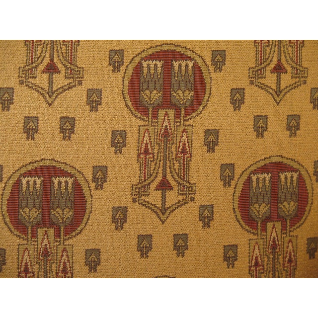 Textile Stickley Native American Print Upholstered Club Chair For Sale - Image 7 of 11