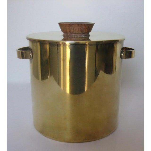 Mid-Century Italian Brass & Teak Ice Bucket - Image 13 of 13