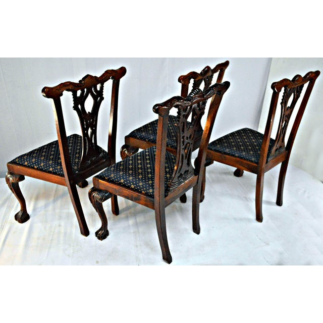 Chippendale Mahogany Dining Chairs - Set of 4 - Image 6 of 9