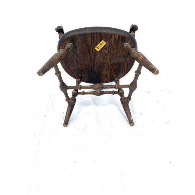 Wood Vintage Nichols and Stone Rockport Windsor Rustic Farm House Style Chair For Sale - Image 7 of 8