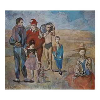 """Picasso """"Les Bateleurs"""" 1971 Parisian Photogravure"""