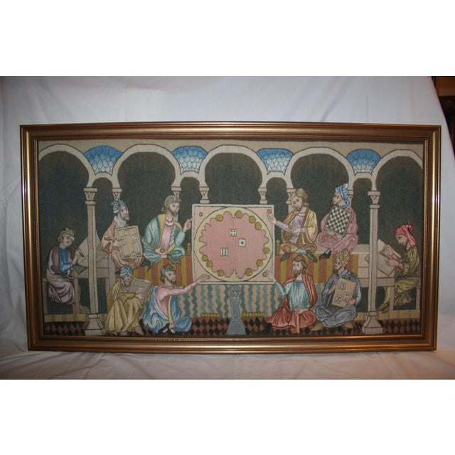 Tapestry made by the Royal Spanish Tapestry Factory, founded in 1721 by Rey Felipe V of Spain. The title of this work is...