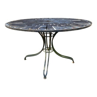 Russell Woodard Strap Iron Garden Table For Sale
