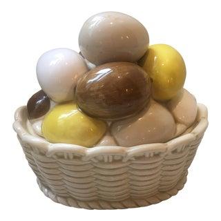 1990's Vintage Egg Basket Tureen Container