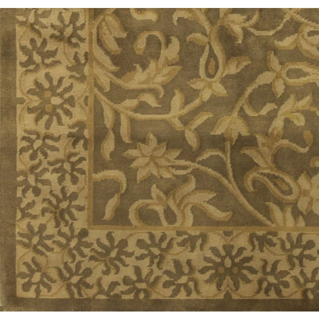 Hand-Knotted Gold Wool Rug - 9′ × 11′10″ - Image 4 of 4