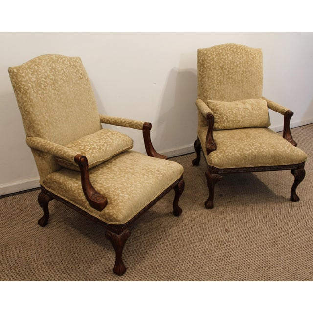 French Ladies Open Arm Ball & Claw Arm Chairs - A Pair - Image 2 of 11