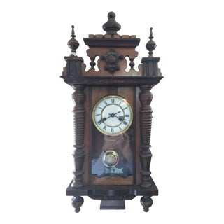 German Pendulum Wall Clock For Sale
