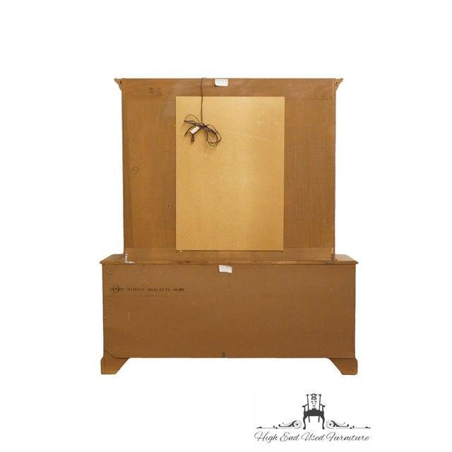 Late 20th Century Vintage Thomasville Furniture Salem Tavern Collection Dresser & Mirror For Sale - Image 10 of 12