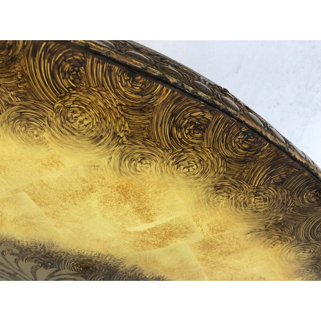 Vintage Circular Coffee Table in Gold Finish For Sale - Image 11 of 13