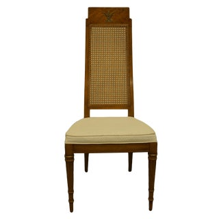 Late 20th Century Weiman Furniture Rockwood Collection Italian Provincial Cane Back Dining Side Chair For Sale