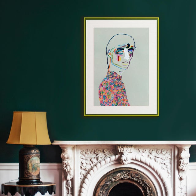 DESCRIPTION: Dries van Noten SS20 by Robson Stannard in Light Yellow Acrylic Frame, XS Art Print SPECIFICATIONS: Type:...