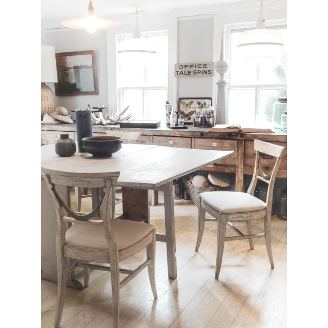 Set of Four Gustavian Style Chairs For Sale - Image 9 of 10