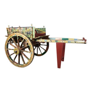 Late 19th Century Vintage Ornate Sicilian Processional Donkey Cart For Sale
