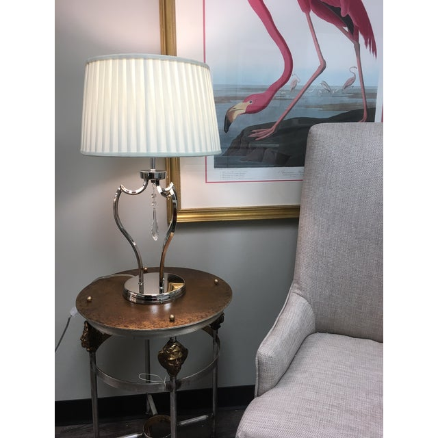 2010s Mid-Century Modern Pimlico Polished Nickel Table Lamp For Sale - Image 5 of 6