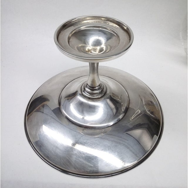 Silver Vintage Pedestal Silver Plate Candy Condiment Dish For Sale - Image 8 of 8