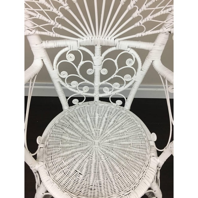 Early 20th Century Antique White Wicker Chair For Sale - Image 10 of 12