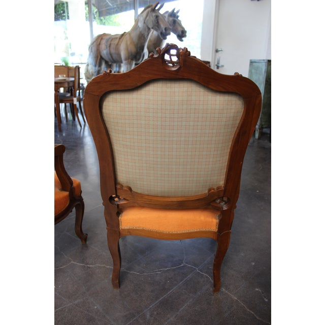 Antique Louis XV Style Armchair - a Pair For Sale - Image 12 of 13