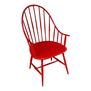 Windsor Outdoor Chair in Red For Sale