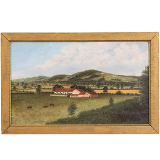 1892 English Pastoral Scene Oil Painting on Canvas For Sale