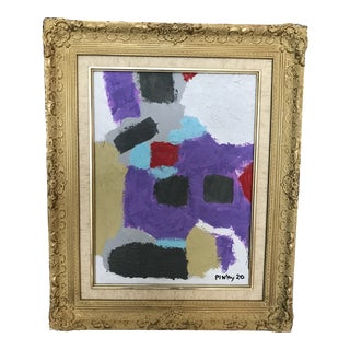 Contemporary Abstract Painting in Louis XV Style Frame For Sale
