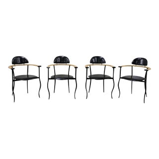 1950's Mid-Century Modern Arrben Italia Stilletto Chairs - Set of 4