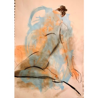 Contemporary Drawing, Blue Nude For Sale