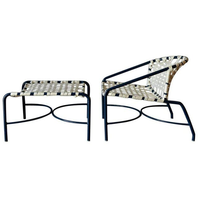 White Vintage Mid Century Tadao Inouye for Brown Jordan Outdoor Lounge Chair & Ottoman For Sale - Image 8 of 8