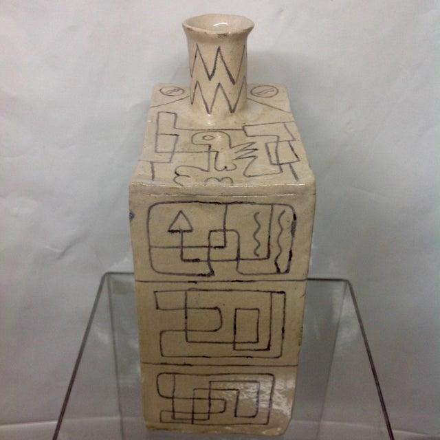 Carved Studio Pottery Vase - Image 4 of 8