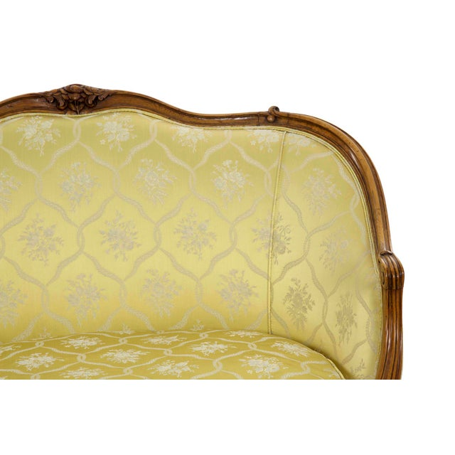 19th Century French Antique Canapé Sofa Settee in Louis XV Style For Sale - Image 6 of 13