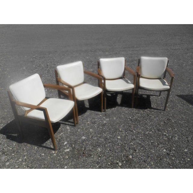 Vintage 1960's Thonet Mid-Century Modern Maple Dining / Side Chairs-Set of 4 For Sale - Image 10 of 10