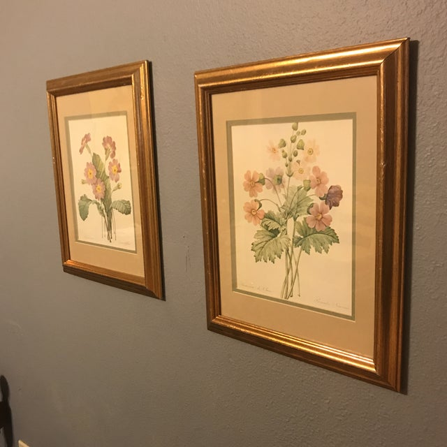 American Classical Vintage PJ Redoute Botanical Framed Prints - A Pair For Sale - Image 3 of 13