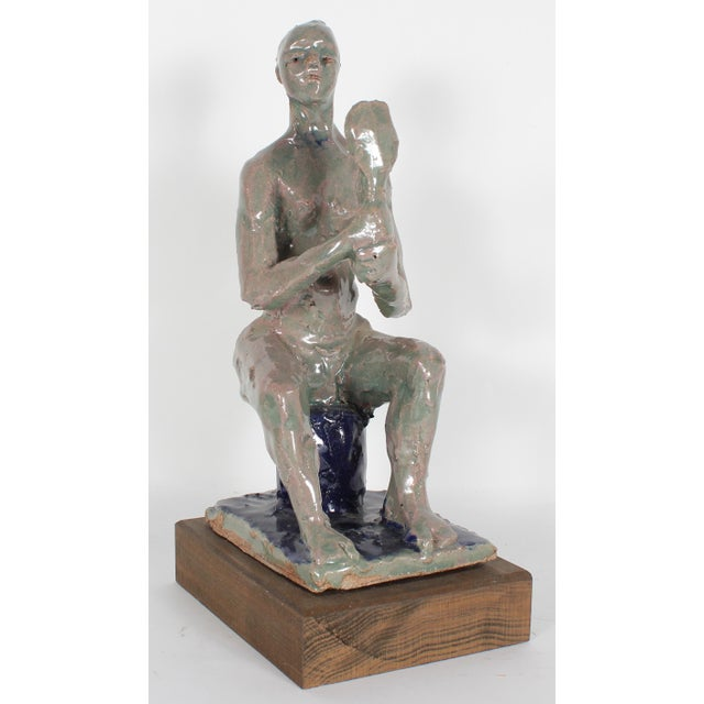 Figurative 20th-21st Century Clay Figure Sculpture by Dave Fox For Sale - Image 3 of 3