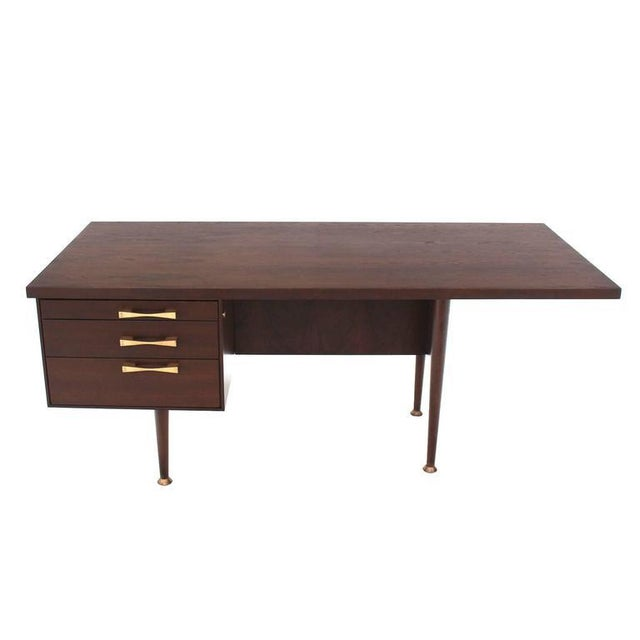 Nice architectural Mid-Century Modern design desk or writing table.