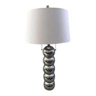 Kovacs Style Chrome Caterpillar Lamp For Sale