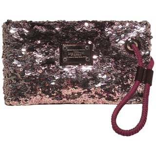 Louis Vuitton Limited Edition Violette Sequin Rococo Pochette Clutch Bag For Sale