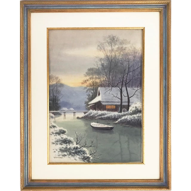 Japanese Landscape Watercolor Painting - Image 2 of 9