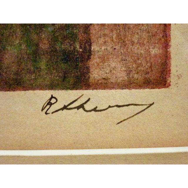 Original Cubist Movement Block Print Portrait For Sale In Chicago - Image 6 of 9