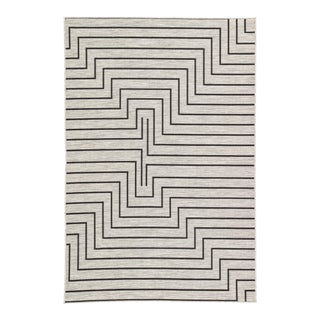 Nikki Chu by Jaipur Living Xantho Indoor/ Outdoor Geometric Area Rug - 5′3″ × 7′6″ For Sale