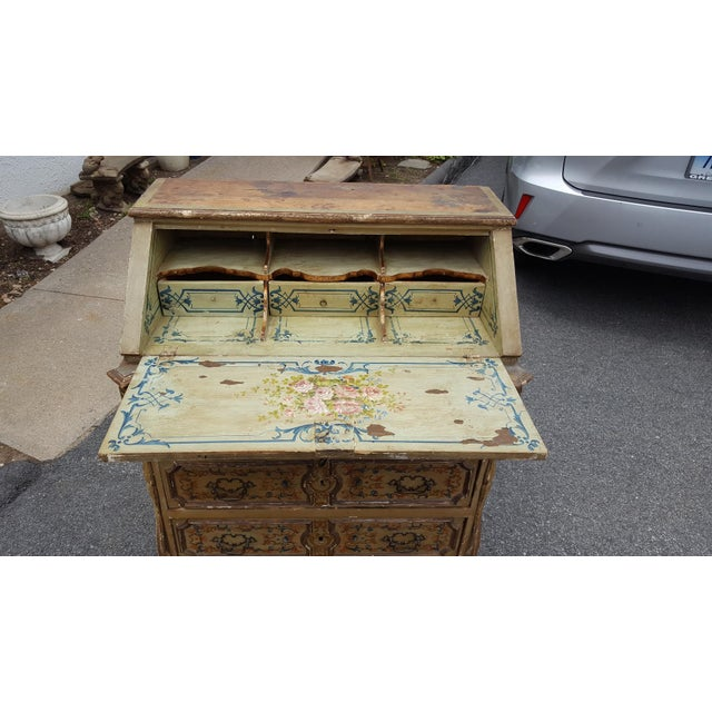 French Distressed Painted Secretary Desk - Image 11 of 11