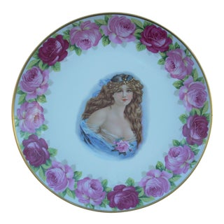 Vintage Bavarian Victorian Porcelain Plate For Sale