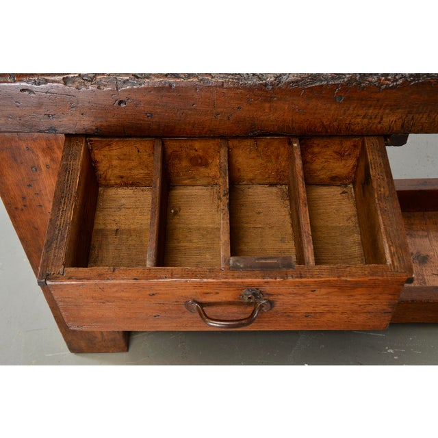 19th Century French Carpenters Workbench Table For Sale - Image 4 of 13
