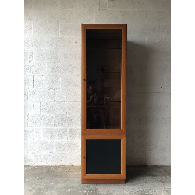 Vintage Mid Century Modern Danish Style Curio Display Cabinet. For Sale - Image 13 of 13