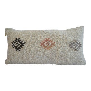 Lumbar Pillow Cover. 100% Natural Pure Hemp Kilim Sham - 13ʺ X 26ʺ For Sale