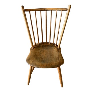 19th Century Early Spindle Back Chair For Sale