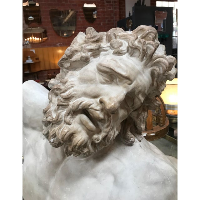 """White """"Laocoon"""" Plaster Bust Sculpture For Sale - Image 8 of 13"""